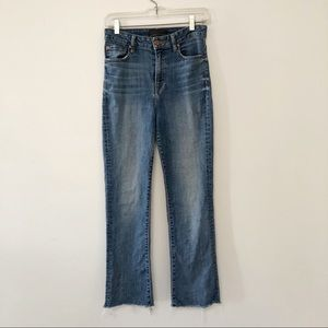 Aritzia The Castings high rise cropped flare jeans